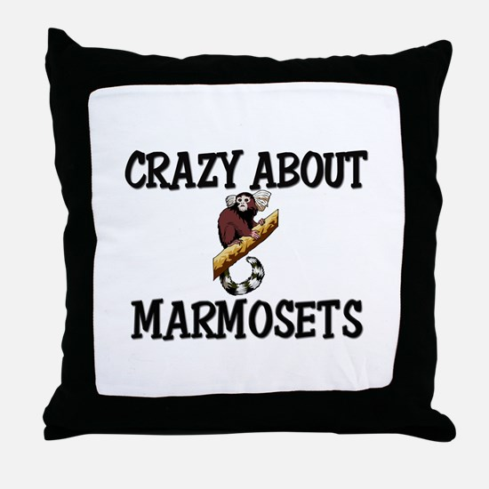 Crazy About Marmosets Throw Pillow