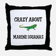 Crazy About Marine Iguanas Throw Pillow