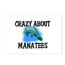 Crazy About Manatees Postcards (Package of 8)