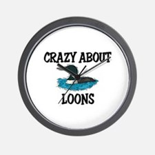 Crazy About Loons Wall Clock