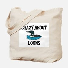 Crazy About Loons Tote Bag