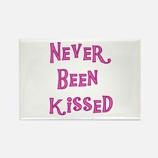Never Been Kissed Rectangle Magnet