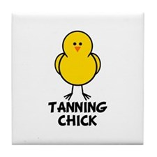 Tanning Chick Tile Coaster