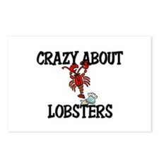 Crazy About Lobsters Postcards (Package of 8)