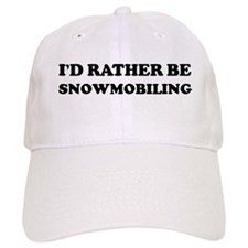 Rather be Snowmobiling Baseball Cap