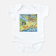 Cute Galveston island Infant Bodysuit