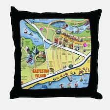Cool Galveston island Throw Pillow