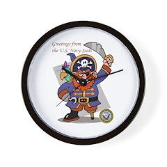 Pirates v. Seals Wall Clock