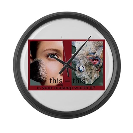 Makeup Test Large Wall Clock