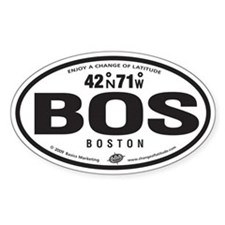 Boston Destination Products Oval Decal