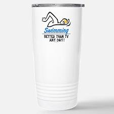 Swimming Stainless Steel Travel Mug