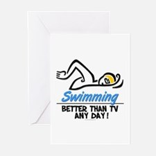 Swimming Greeting Cards (Pk of 10)