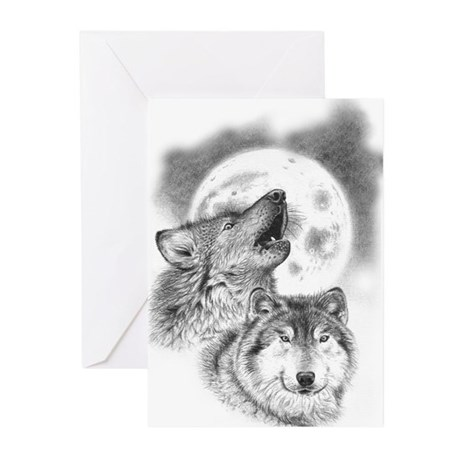 Wolves Greeting Cards (Pk of 10)