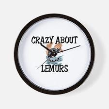 Crazy About Lemurs Wall Clock