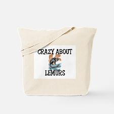 Crazy About Lemurs Tote Bag