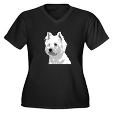 Cute West highland Women's Plus Size V-Neck Dark T-Shirt
