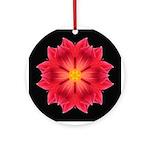 Dahlia Hybrid II Ornament (Round)