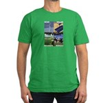 Think Outside the Barrel Men's Fitted T-Shirt (dar