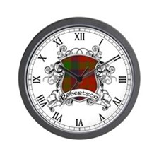 Robertson Tartan Shield Wall Clock