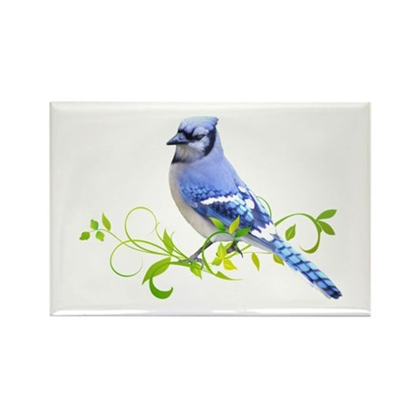 Blue Jay Rectangle Magnet (100 pack)