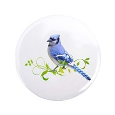 "Blue Jay 3.5"" Button"