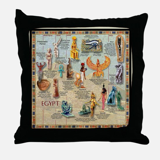 Funny Egypt Throw Pillow