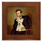Lincoln / Scottie (w) Framed Tile