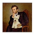 Lincoln / Scottie (w) Tile Coaster