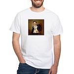 Lincoln / Scottie (w) White T-Shirt
