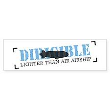 Aviation Blimp Bumper Bumper Sticker