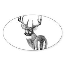 Deer Oval Decal
