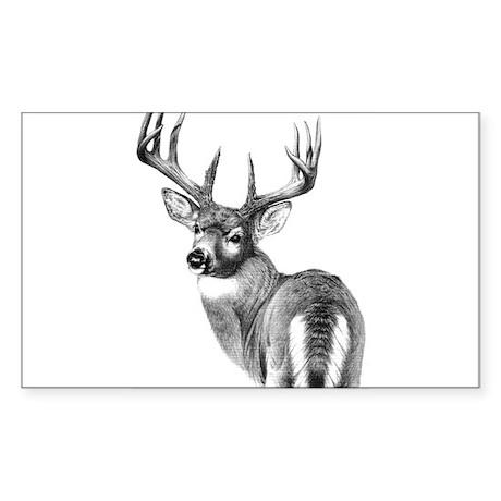 Deer Rectangle Sticker