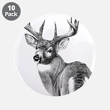 """Deer 3.5"""" Button (10 pack)"""