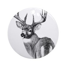 Deer Ornament (Round)