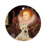 Queen / Scottie (w) Ornament (Round)