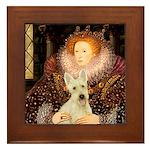 Queen / Scottie (w) Framed Tile