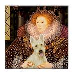 Queen / Scottie (w) Tile Coaster