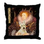 Queen / Scottie (w) Throw Pillow