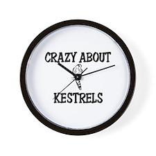 Crazy About Kestrels Wall Clock