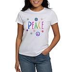 Pastel Peace Symbols Women's T-Shirt