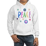 Pastel Peace Symbols Hooded Sweatshirt