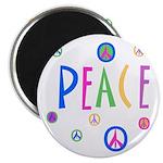 Pastel Peace Symbols Magnet