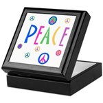 Pastel Peace Symbols Keepsake Box