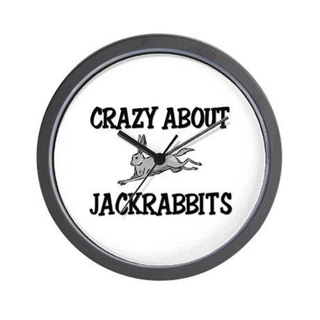 Crazy About Jackrabbits Wall Clock