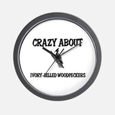Crazy About Ivory-Billed Woodpeckers Wall Clock