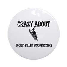 Crazy About Ivory-Billed Woodpeckers Ornament (Rou
