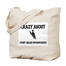 Crazy About Ivory-Billed Woodpeckers Tote Bag