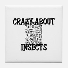 Crazy About Insects Tile Coaster