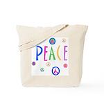 Pastel Peace Symbols Tote Bag