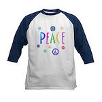 Pastel Peace Symbols Kids Baseball Jersey